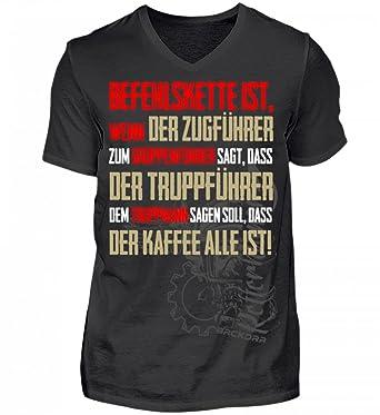 Feuerwehr   Befehlskette Gruppenführer - Herren V-Neck Shirt  Amazon ... e928ebf30d