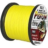 Pisfun SuperPower 500M(547 Yard)/1000M(1100 Yard) Braided Saltwater Fishing Line 4 Strands 14-80LB Advanced Superline Green Orange Grey Yellow White Blue Color
