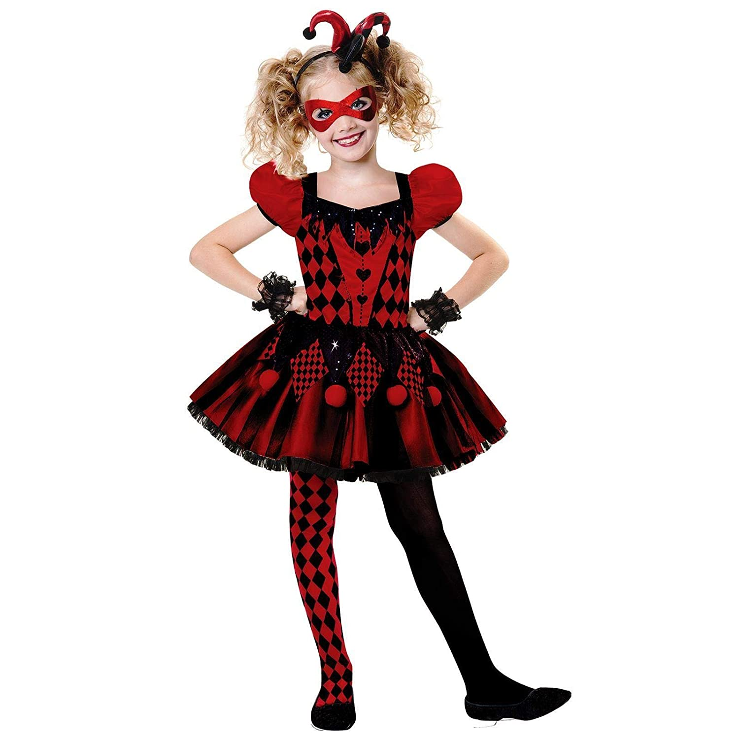 Harley Quinn Shoes Adult//Teen Harlequin Jester Costume Cosplay Fancy Dress