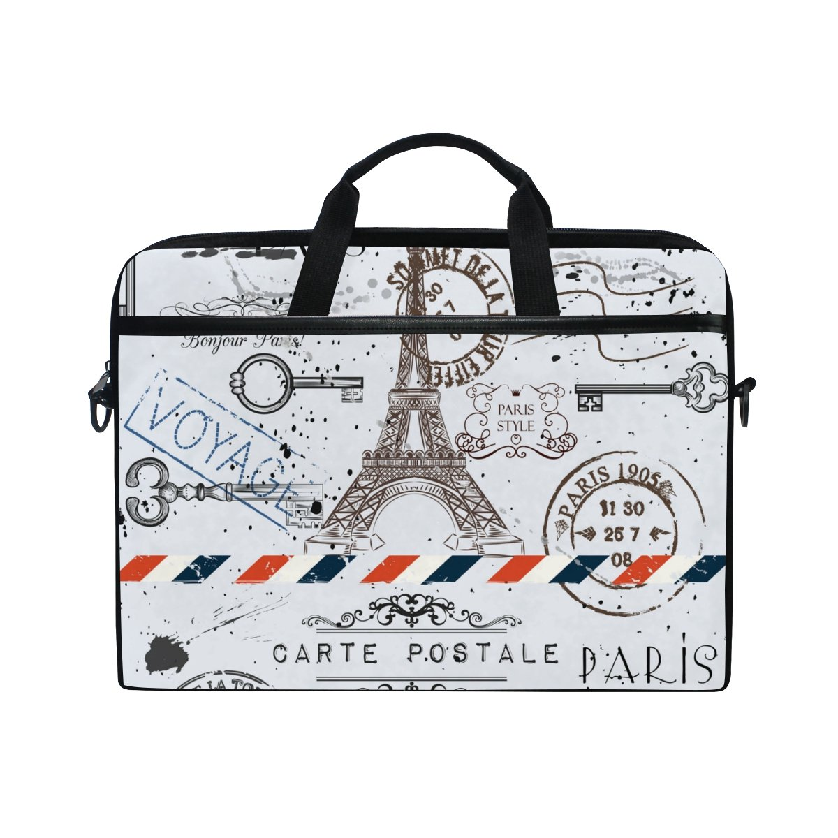 25ec768245 ALAZA Vintage Retro Eiffel Tower Laptop Bag Shoulder Bag Briefcase Messenger  Tablet Bag 15 15.6 Inch