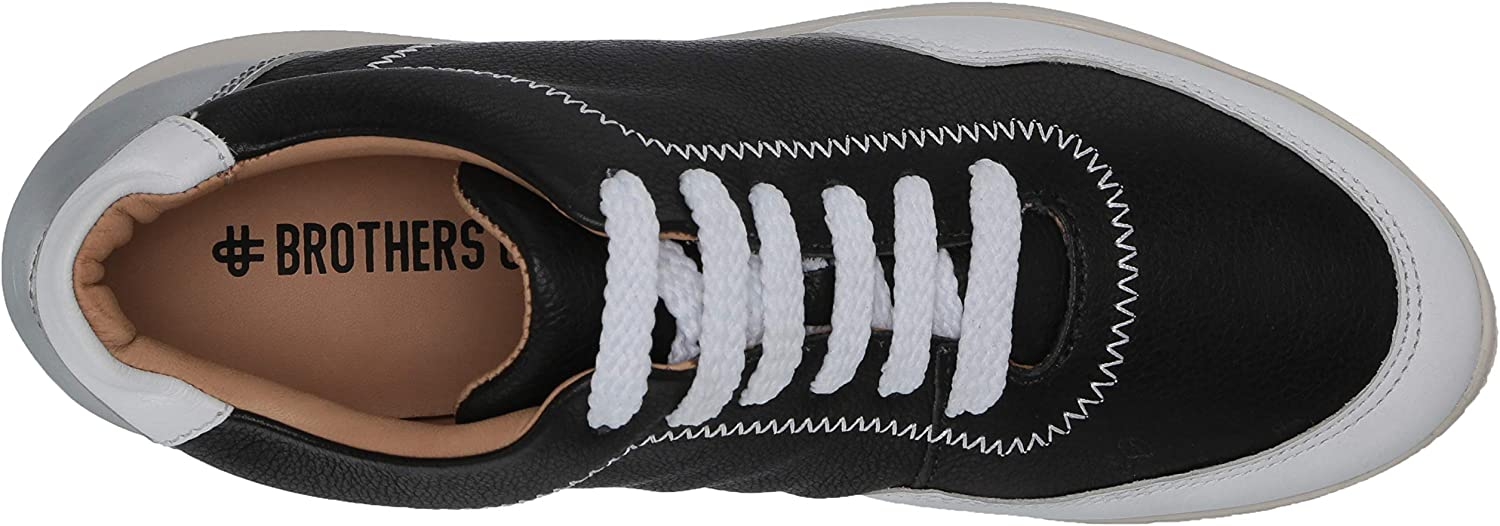 Brothers United Women's Made in Brazil Luxury Leather Fashion Sneaker Black Nappa Soft