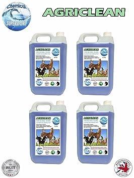 Agriclean Desinfectante para granjas y casetas de animales con aroma alpino, 4 unidades de 5 L: Amazon.es: Hogar