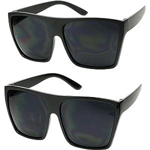 cae88c4708 ShadyVEU - Big XL Large Square Trapezoid Shape Oversized Fashion Sunglasses
