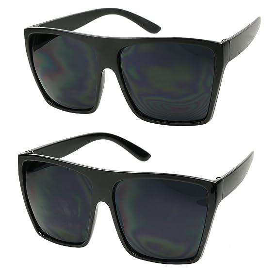 Amazon.com: ShadyVEU - Gafas de sol grandes cuadradas con ...