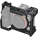 SMALLRIG A7RIII / A7III Camera Cage for Sony A7RIII / A7III Camera (ILCE-7RM3 / A7R Mark III) with Cold Shoe and Locating Holes – 2087