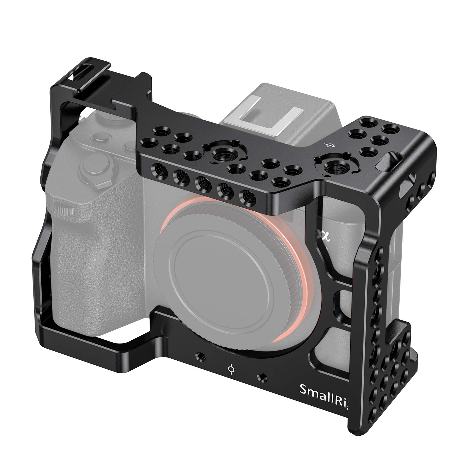 SMALLRIG A7RIII / A7III Camera Cage for Sony A7RIII / A7III Camera (ILCE-7RM3 / A7R Mark III) with Cold Shoe and Locating Holes - 2087 by SMALLRIG