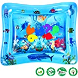 LUKAT Inflatable Baby Water Play Mat, Tummy Time Mat Sensory Toy for Infants & Toddlers, Play Activity Center for 3/6/9 Month Baby, 26 x 20 x 2.4 inch, BPA Free