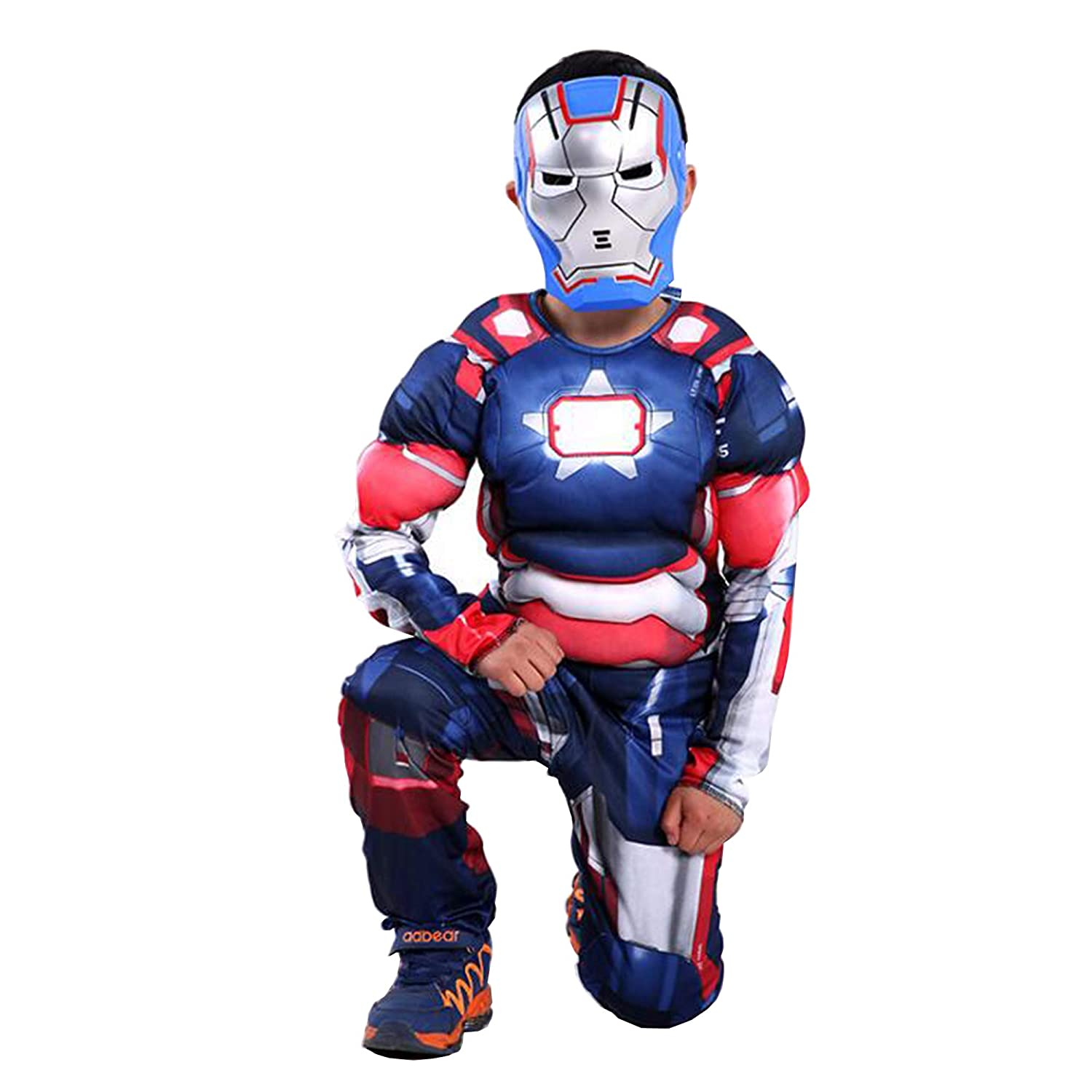 Boys and Girls SuperHero Costumes Multi-Pack with 5 Pieces Kids 5 Piece Set