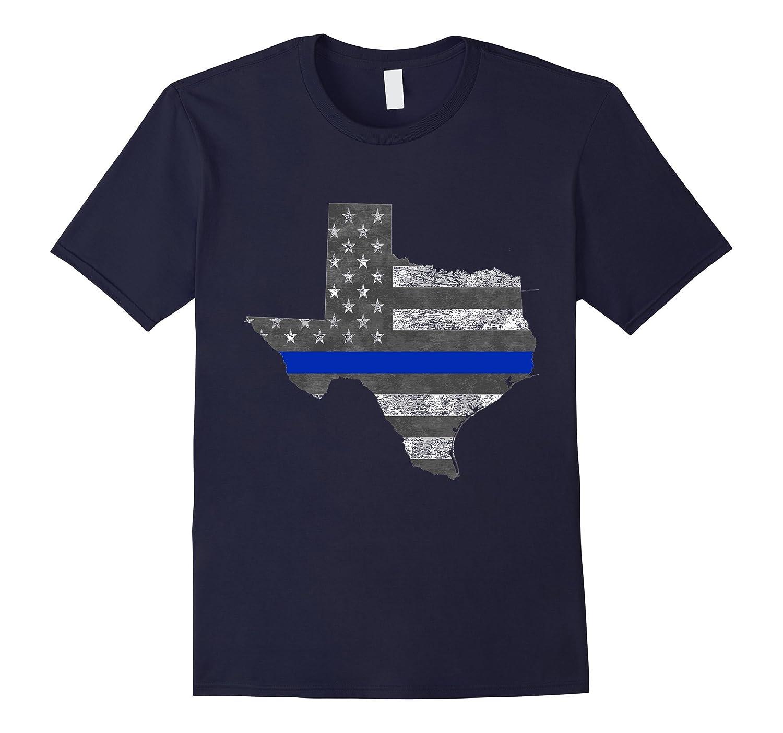 Texas police thin blue line flag t shirt goatstee for Texas thin blue line shirt