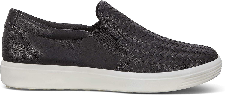 ECCO SOFT7W, Baskets Slip-on Femme Noir Black 1001