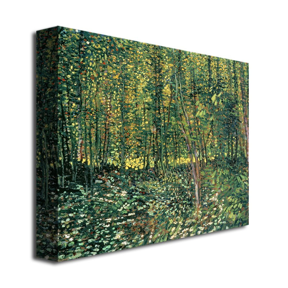 Trees and Undergrowth, 1887 by Vincent van Gogh, 18×24-Inch Canvas Wall Art