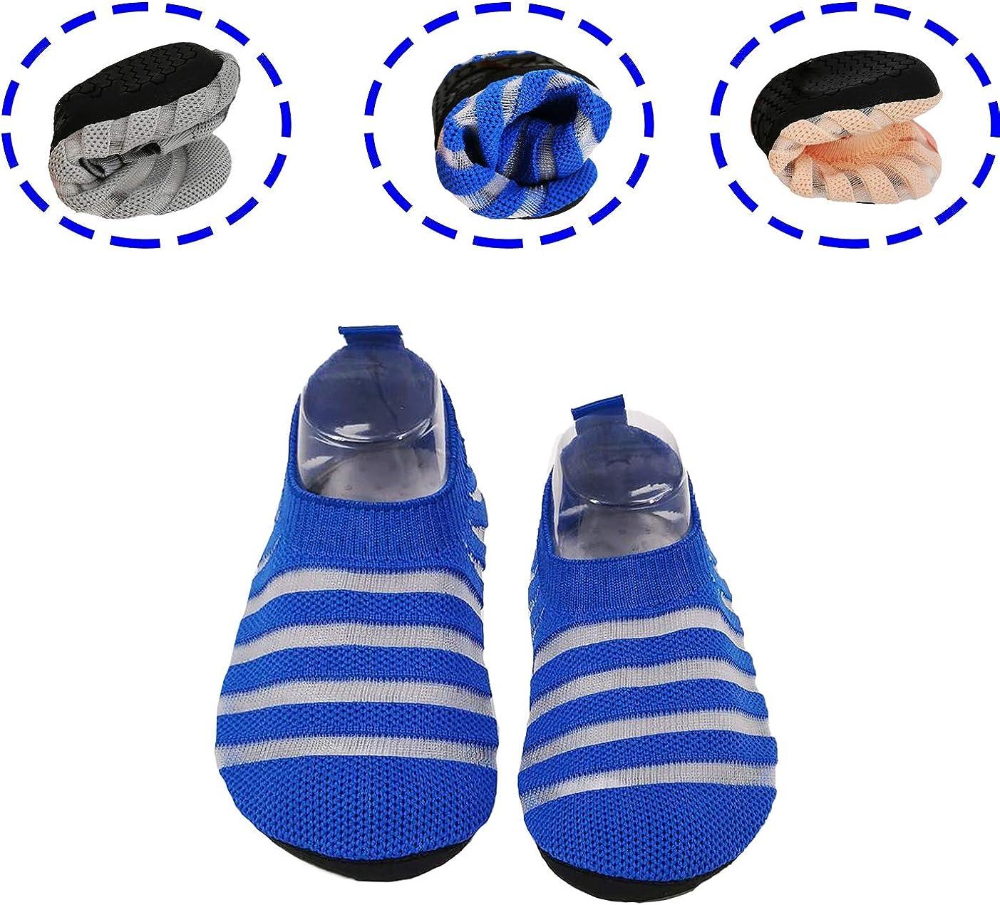 Dream Bridge Kids Slipper Socken Anti-Rutsch-Strick Socken Hausschuhe f/ür Jungen M/ädchen Indoor Outdoor Socken mit Gummibodensohle