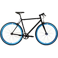 "KS Cycling Pegado Vélo Fitness Fixie Noir 28"""