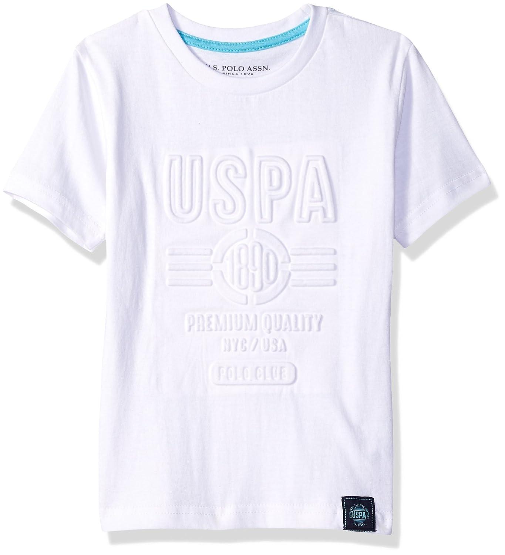 U.S. Polo Assn. Boys' Short Sleeve Striped Crew Neck T-Shirt HA45_1