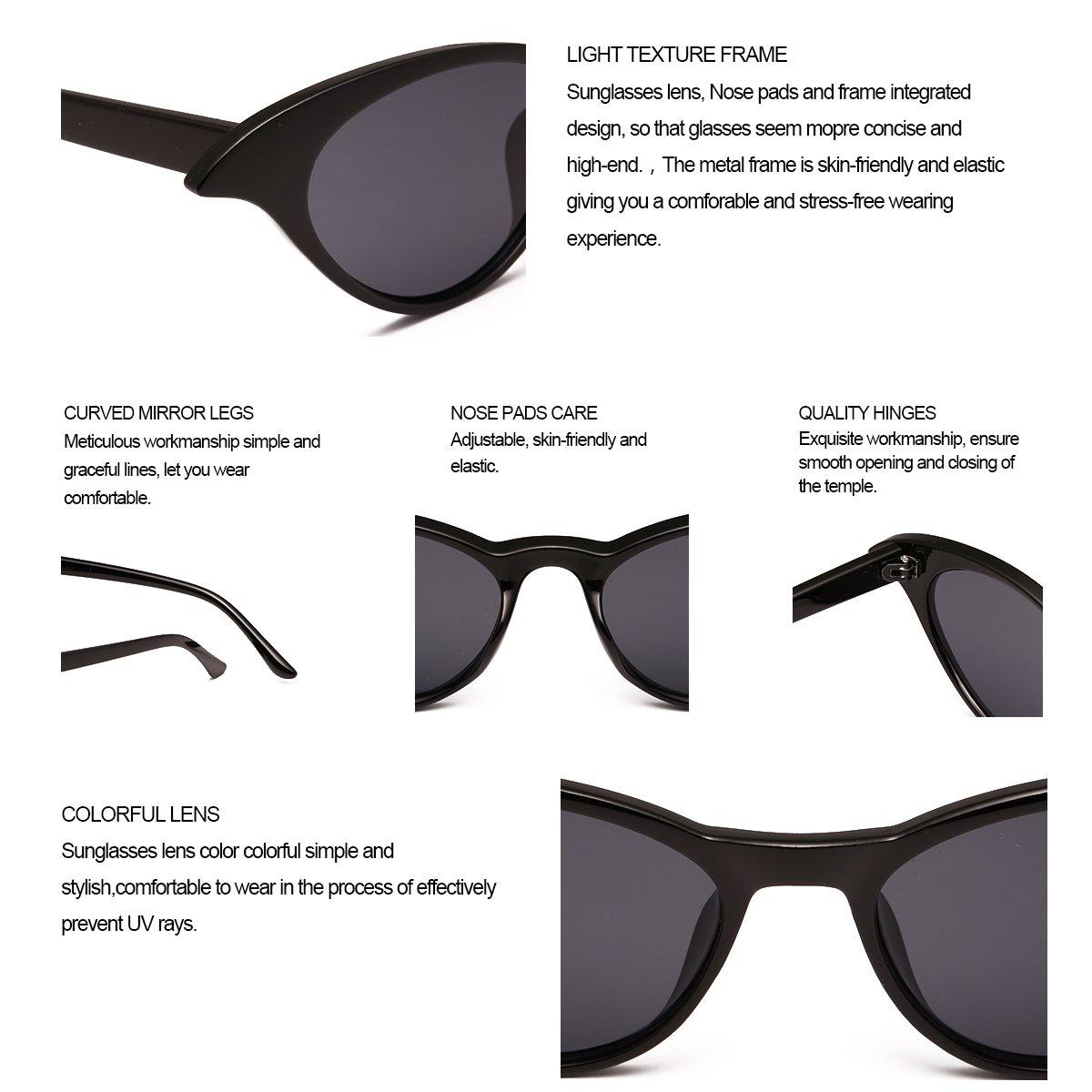 416f629e4c Amazon.com  Sunglasses for Women RAYSUN Vintage Retro Tinted Lens Cat Eye  Sunglasses Clout Goggles Mental Frame  Shoes