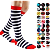 Gnpolo Womens Graduated Compression Socks 15-20 20-30 mmHg Athletic Running Nurse Stockings