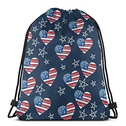Bandera Americana Heart_1060 Mochila Mochila Mochila Bolsas ...