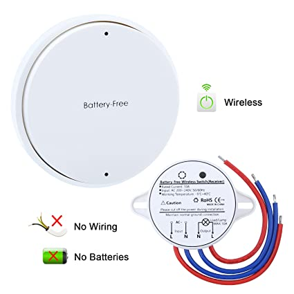 Surprising Wireless Switch Remote Control Light Switch And Receiver No Battery Wiring Cloud Hisonuggs Outletorg