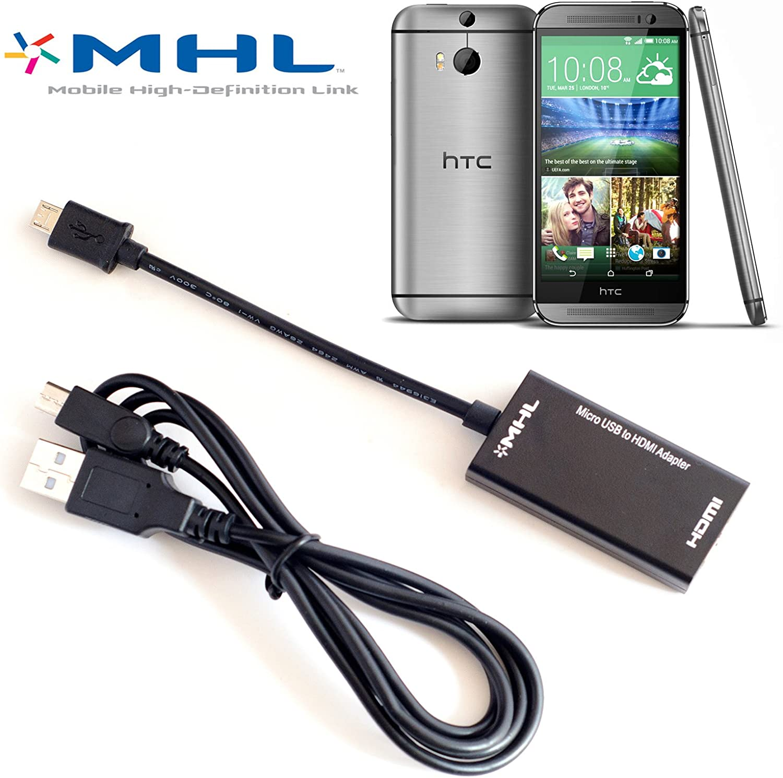 Volans MHL a HDMI TV-out para HTC One M8 adaptador HDTV: Amazon.es: Electrónica