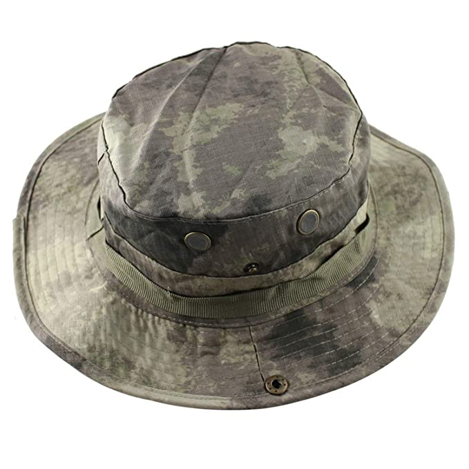 5fa032b30ce Image Unavailable. Image not available for. Color  Ron Kite Tactical  Airsoft Sniper Camouflage Boonie Hats Nepalese Cap ...