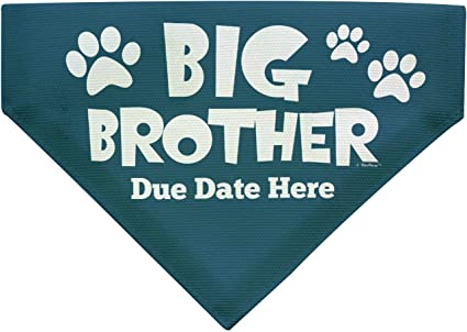 Custom Dog Bandana Dog BANDANA Glitter Vinyl Personalized Dog Bandana Dog Scarf Big Brother Big Sister Blue
