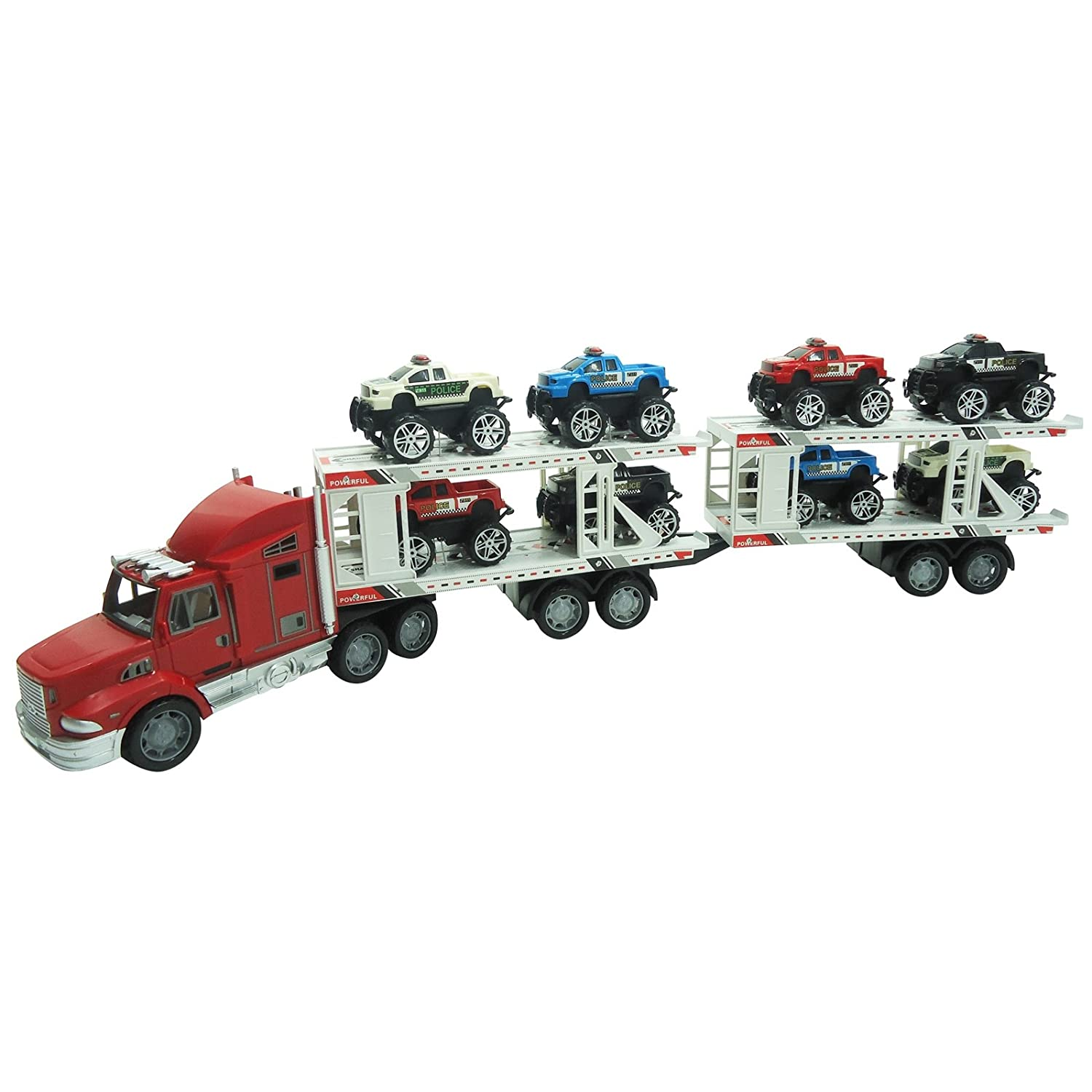 高品質の人気 ATV Superior Trailer Children's Kid's May Friction Toy B00T55V8T8 Truck Friction Ready To Run w/ 8 Toy ATVs, No Batteries Required (Colors May (Assorted) 2 Trailer B00T55V8T8, セレクトショップ JACKPOT STORE:fc8ab319 --- a0267596.xsph.ru