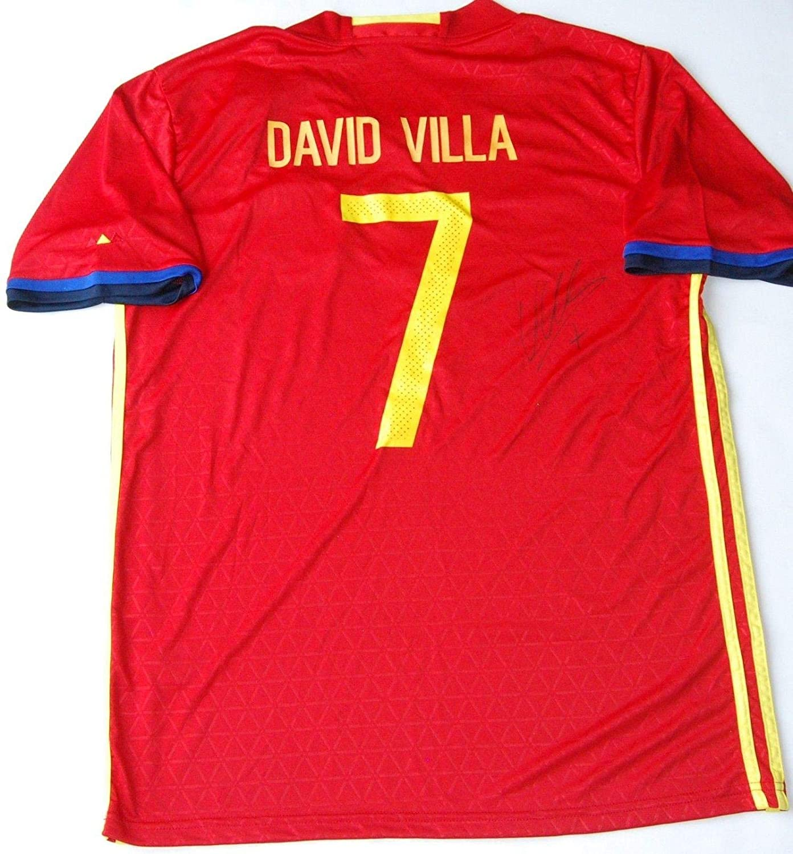 innovative design c7be2 7d68c Autographed David Villa Jersey - SPAIN W COA NYCFC ...