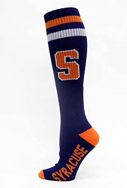 a573c452d Image Unavailable. Image not available for. Color  NCAA Syracuse Orange  Blue Tube Socks ...