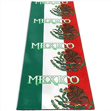 Amazon.com: Mexico Mexicon Flag Printed Yoga Mat Prana Yoga ...