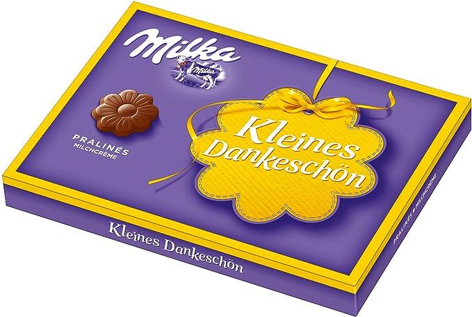 Milka pequeño Dankeschön, leche Crema Bombones, 110 g, 5 unidades (5 ...