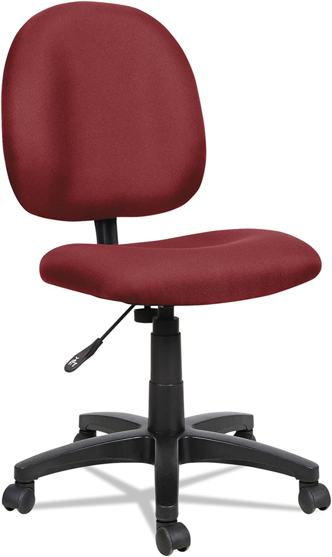 Alera Essentia Series Swivel Task Chair, Acrylic, Burgundy