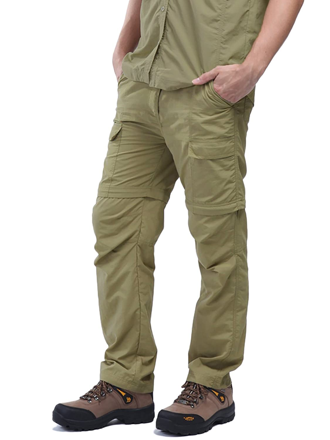 Men's Wild Hiking Work Cargo Quick Dry Pants Stretchy Waterproof Trousers CloSoul Direct