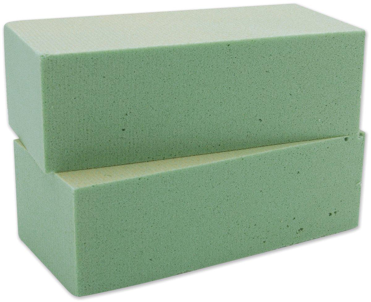 floracraft desert foam bricks packaged green 2 per package