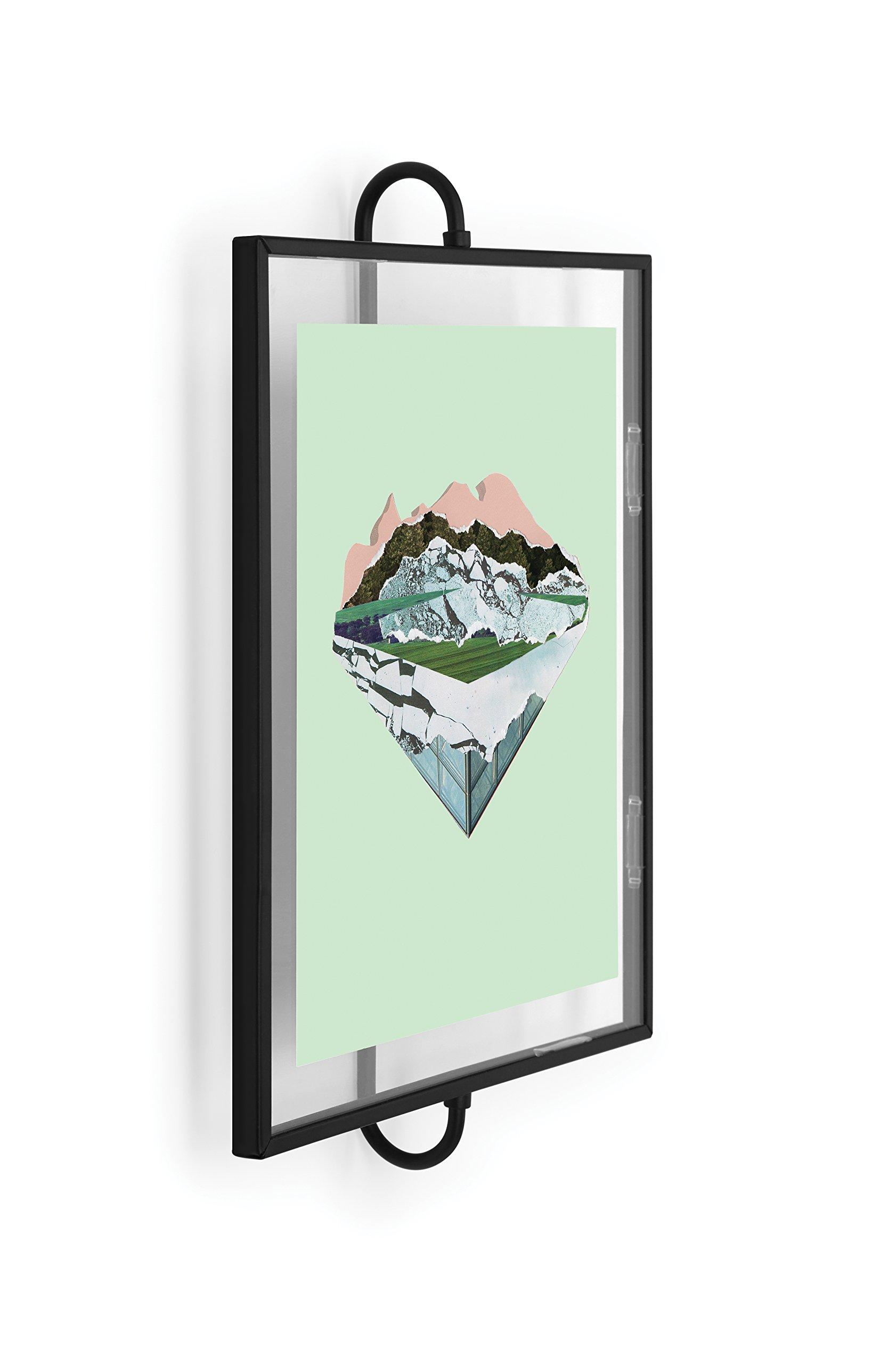 Umbra Phantom Wall Picture Frame, 8 x 10, Floating Frame, Black by Umbra