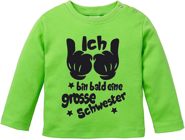 EZYshirt Ich Bin Bald eine Grosse Schwester Baby T-Shirt Longsleeve