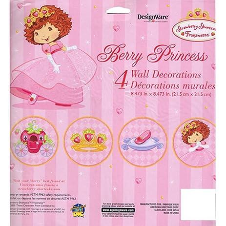 Amazon.com: Strawberry Shortcake \'Berry Princess\' Wall Decorations ...