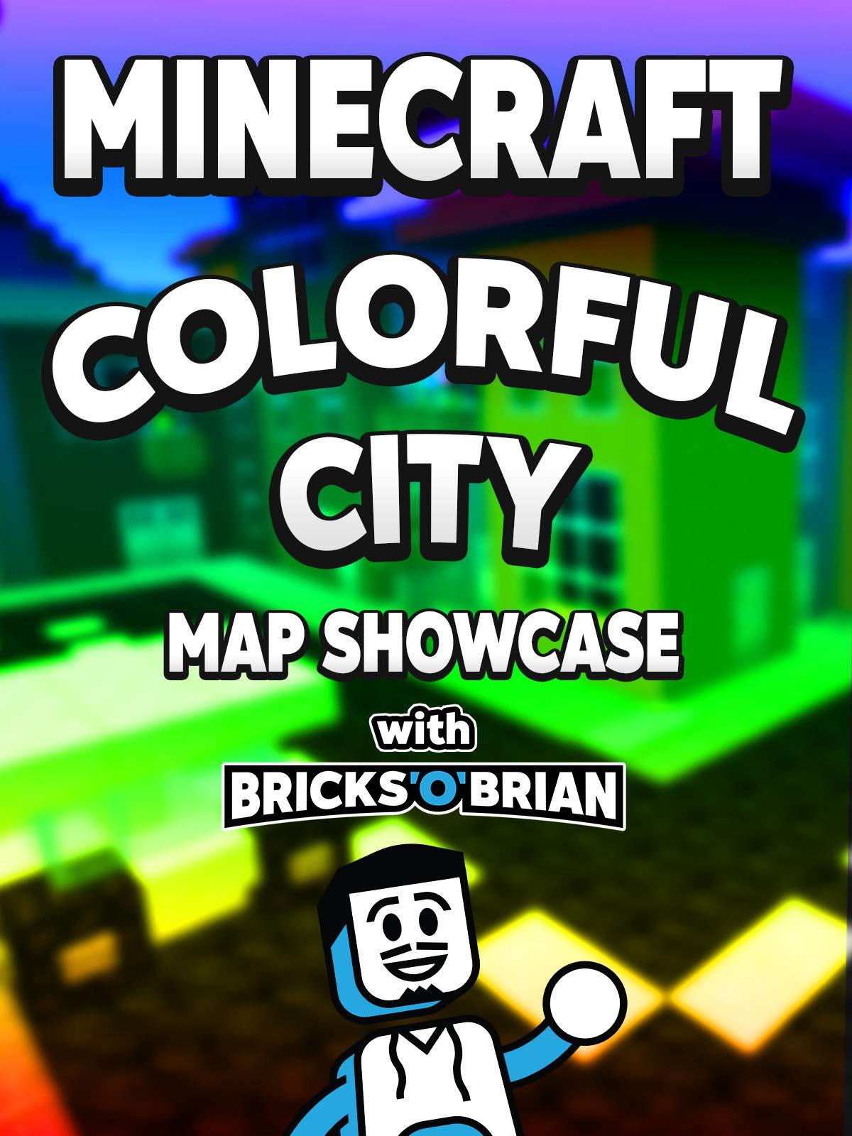 Amazon com: Watch Clip: Minecraft Colorful City Map Showcase