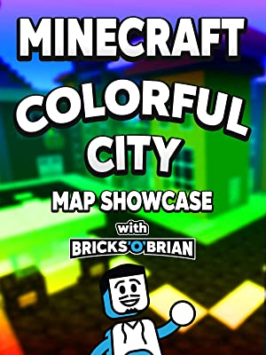 Amazon com: Watch Clip: Minecraft Colorful City Map Showcase with
