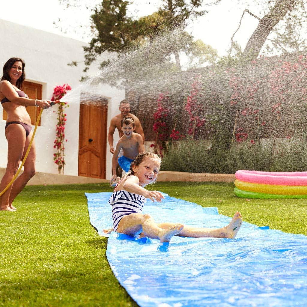 Waterslide For Kids And Adult Garden Slip And Slide Mat Wave Rider Slip And Slide 19.68ftx3.93ft Summer Water Games Backyard Water Slide Water Slides For Garden Lawn Water Slides For Kids