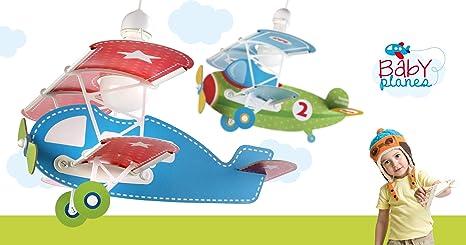 LED Kinderlampe Flugzeuge Flugzeug Flieger Doppeldecker