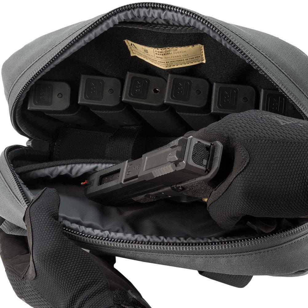 Evike Salient Arms International x Malterra Tactical Pistol Bag - Grey - (60929) by Evike (Image #6)