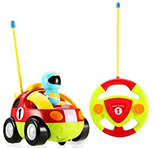 Holy Stone RC Cartoon Race Car Music and Lights Electric Radio Control Toy for Baby Toddlers Kids and Children