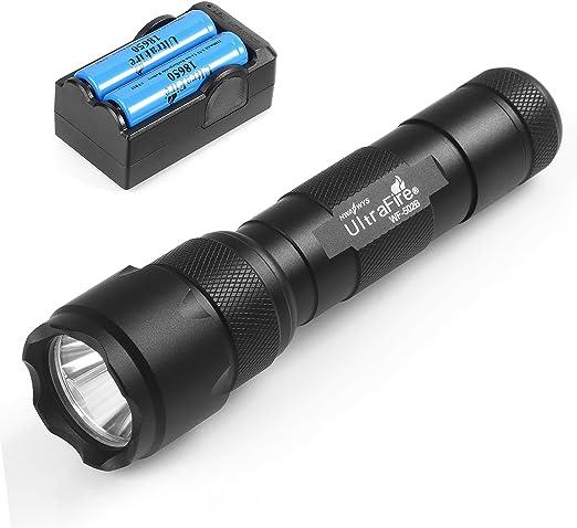 Amazon.com: UltraFire WF-502B Linterna, XP-E V6 LED 5 modos ...