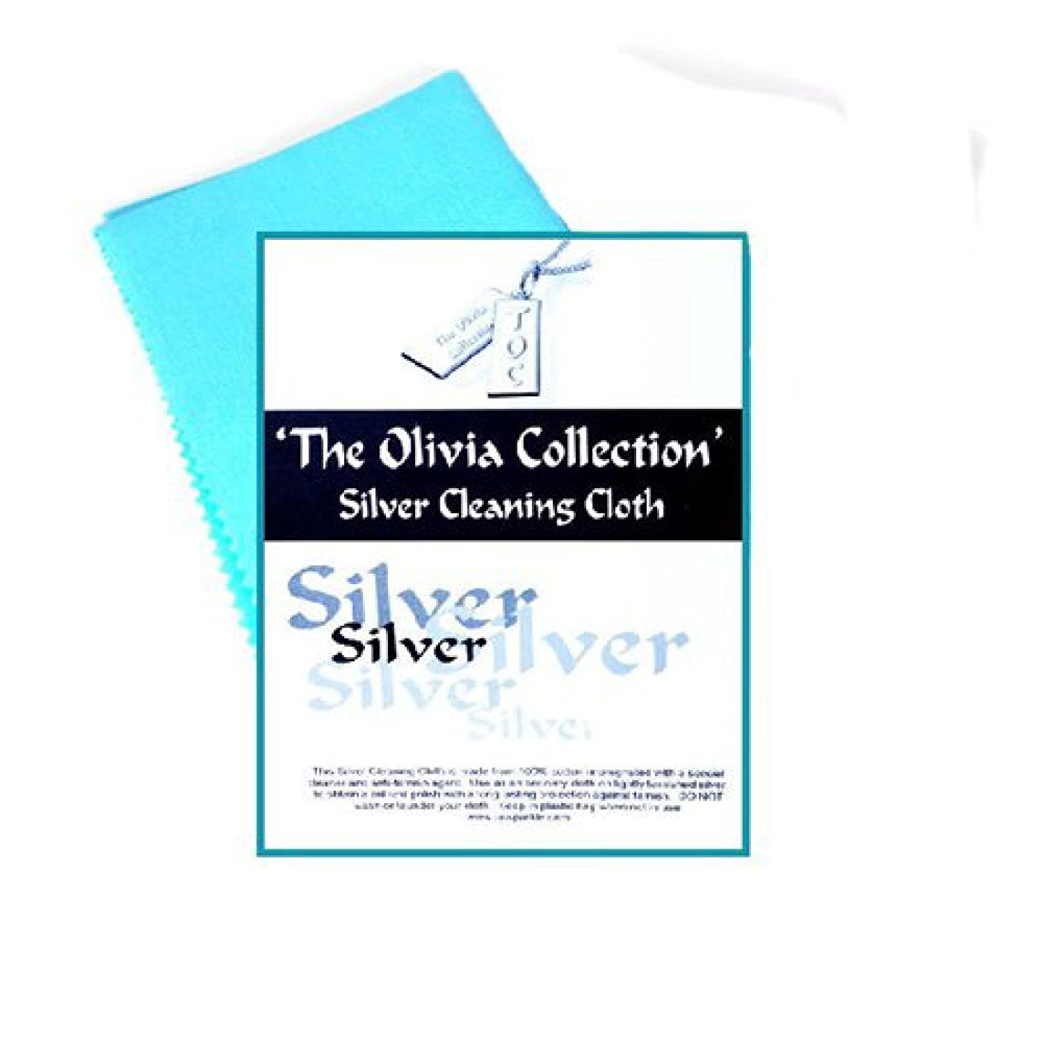 The Olivia Collection Single TOC Silver Jewellery Anti Tarnish Polishing Cloth LARGE 220mm x315mm Direct Diamond Centre SC219