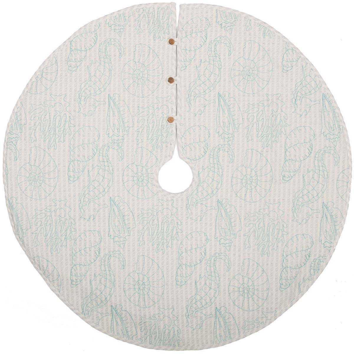 VHC Brands Christmas Holiday Decor - Arielle White Tree Skirt