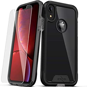 ZIZO ION Series for iPhone XR Case Military Grade Drop Tested with Tempered Glass Screen Protector Black Smoke