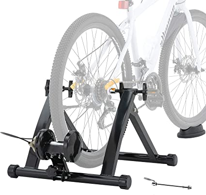 Indoor Bike Resistance Trainer Level 5 Exercise Magnetic Stand Bicycle Anti Slip