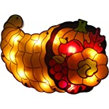 "Northlight 20"" Lighted Cornucopia Thanksgiving Window Silhouette Decoration"
