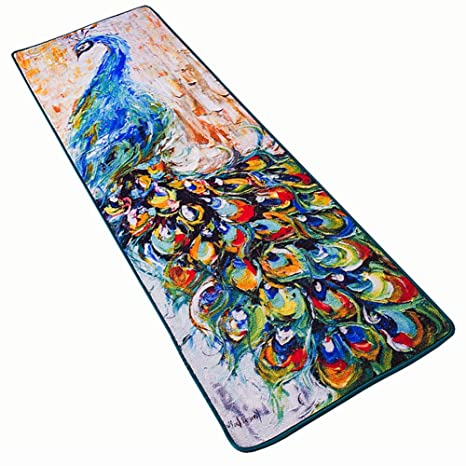 Genial Ukeler Peacock Design Floral Kitchen Rugs And Mats Non Skid Home Decorative  Rug Carpet For