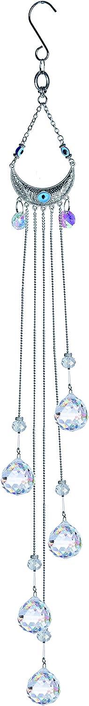 H&D HYALINE & DORA Crystals Rainbow Suncatcher Hanging Blue Evil Eye Ornament Glass Balls Prism for Home,Window,Garden